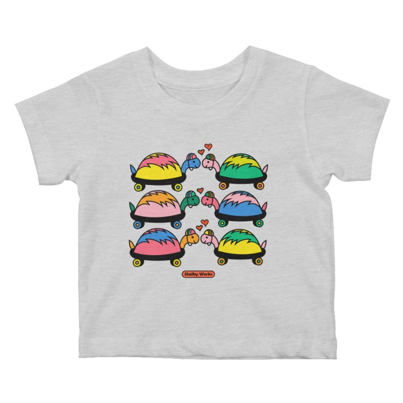 Turtle Kisses Kids Baby T-Shirt by Shelby Works
