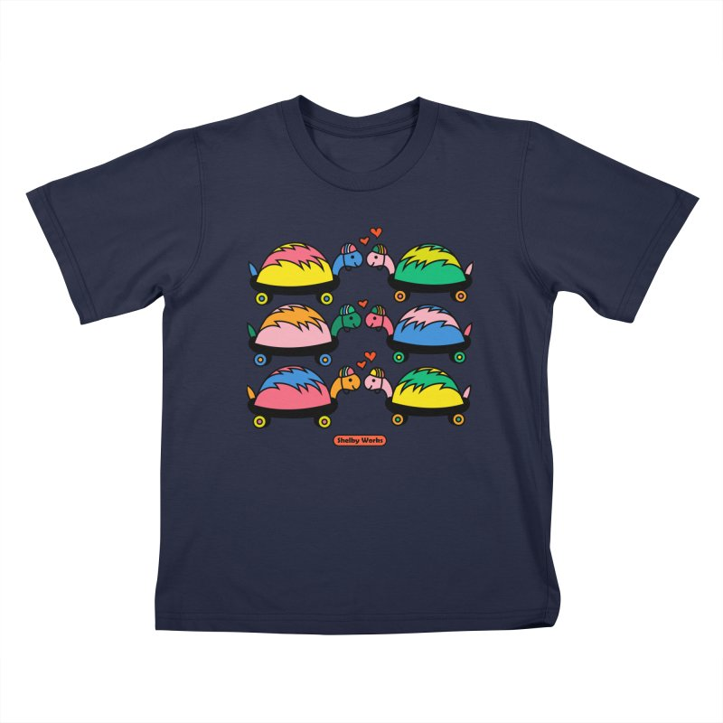 Turtle Kisses Kids T-Shirt by Shelby Works