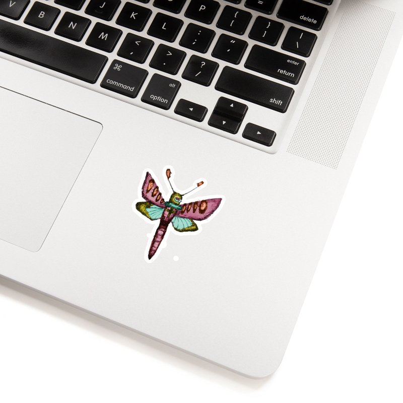 Moth Man Accessories Sticker by Shelby Works
