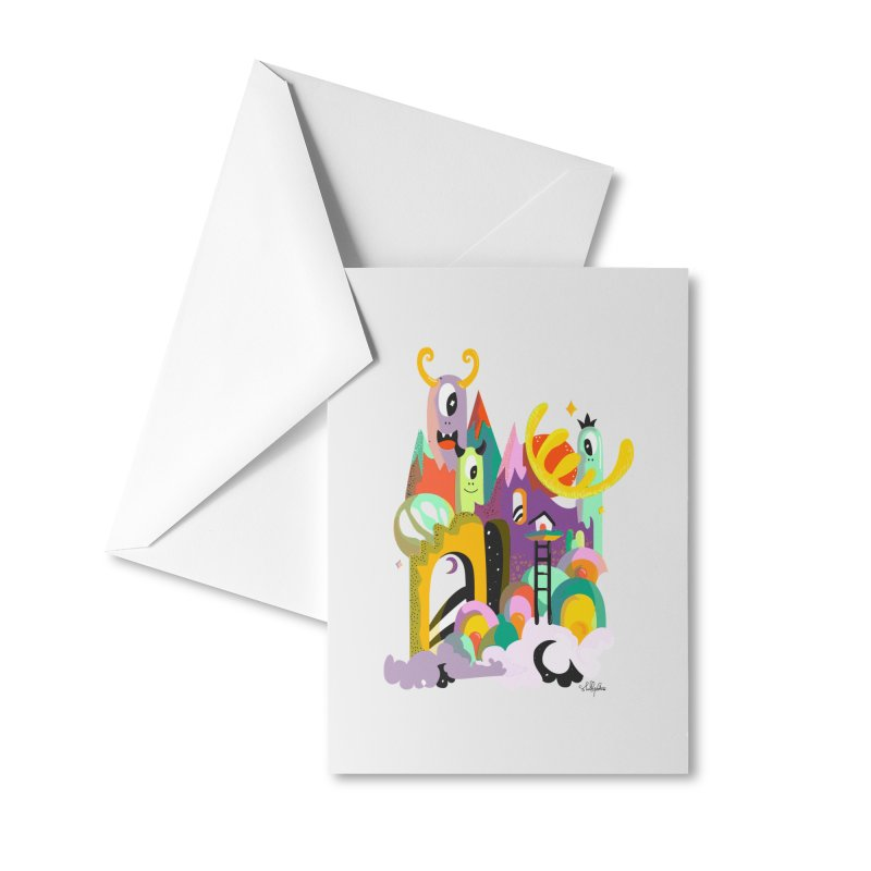 Goop Fairy Land Accessories Greeting Card by Shelby Works
