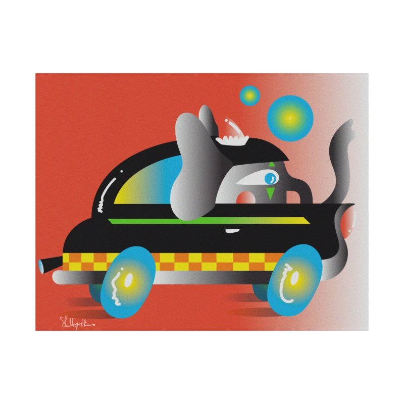 Elephant Car Print Home Fine Art Print by Shelby Works