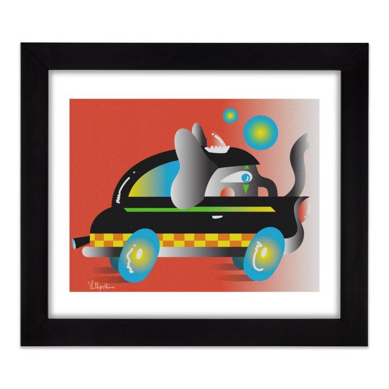 Elephant Car Print Home Framed Fine Art Print by Shelby Works