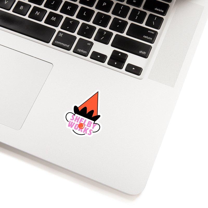 Clown sticker design Accessories Sticker by Shelby Works