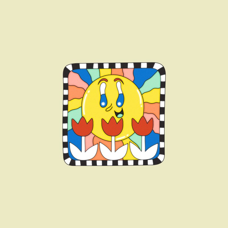 Sun Tile Accessories Greeting Card by Shelby Works