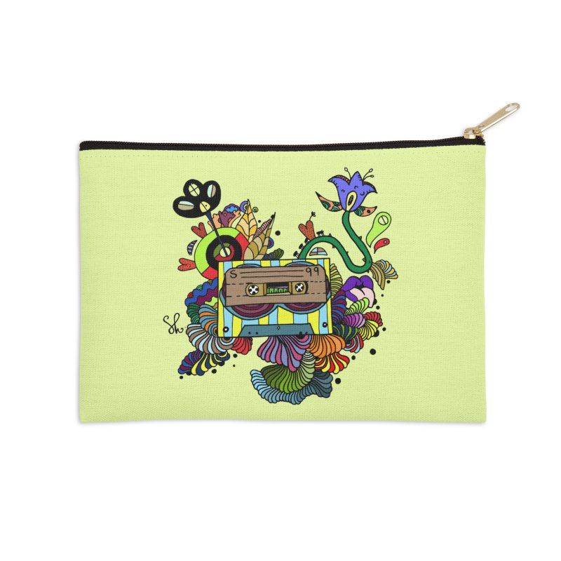 Beetle Leaves Accessories Zip Pouch by Shelby Works