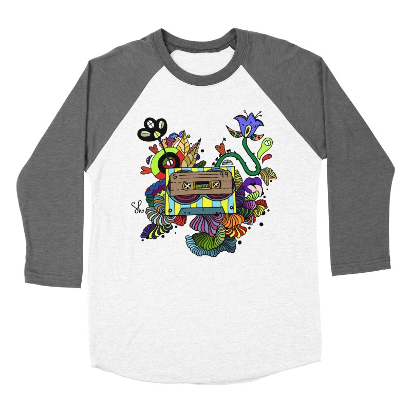 Beetle Leaves Women's Baseball Triblend Longsleeve T-Shirt by Shelby Works