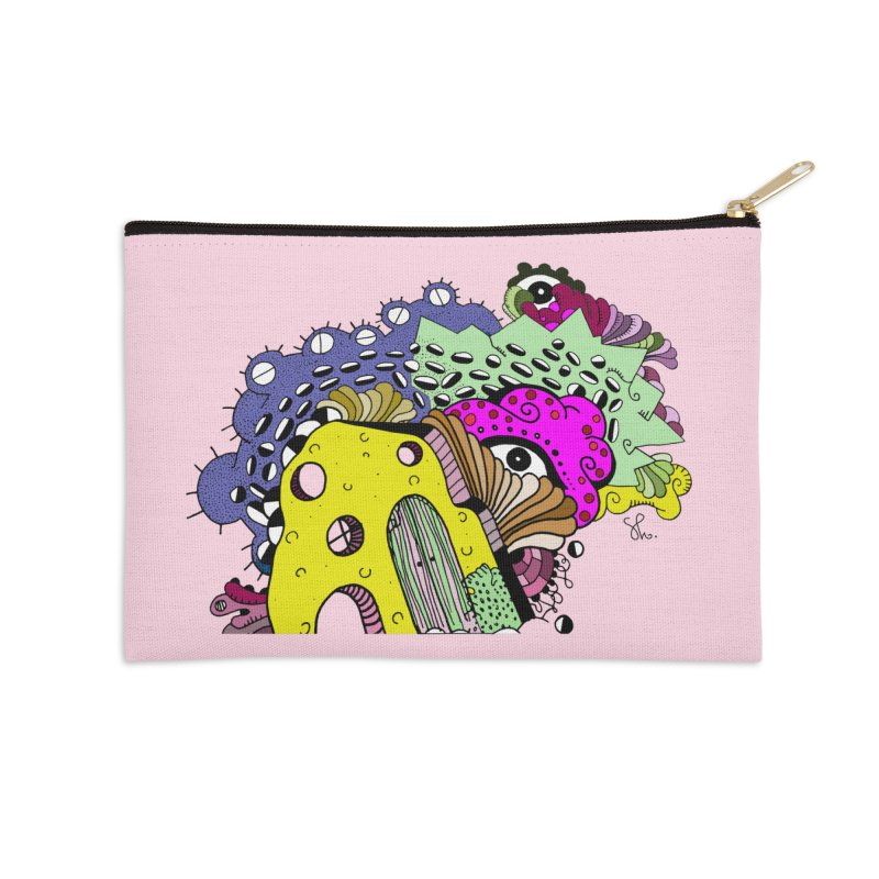 Yellow Amoeba Playhouse Accessories Zip Pouch by Shelby Works
