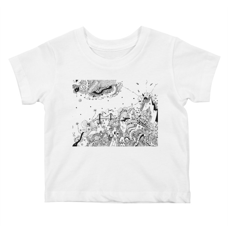 City of Serendipity Kids Baby T-Shirt by Shelby Works
