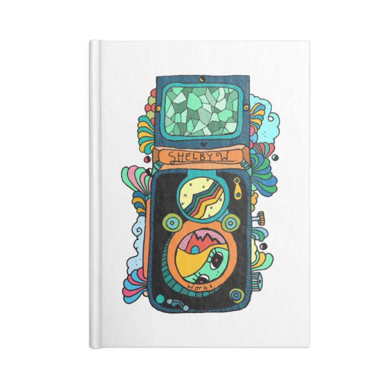 Kaleidoscope Camera Accessories Lined Journal Notebook by Shelby Works