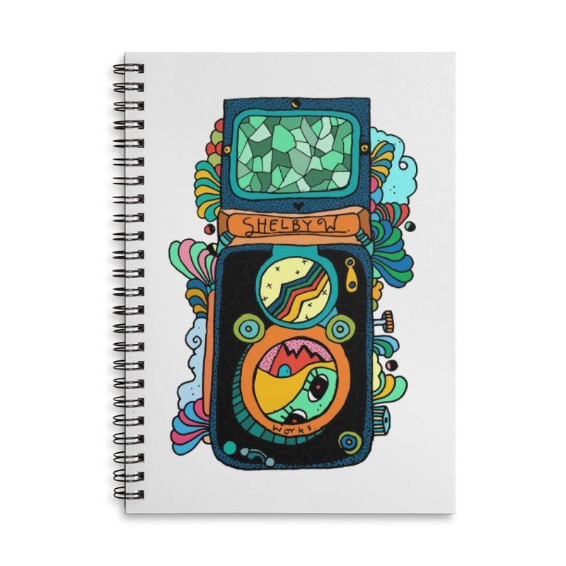 Kaleidoscope Camera Accessories Lined Spiral Notebook by Shelby Works