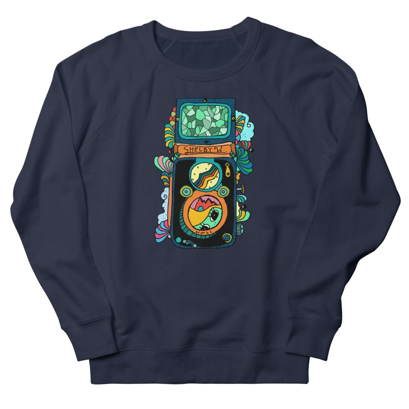Kaleidoscope Camera Men's French Terry Sweatshirt by Shelby Works