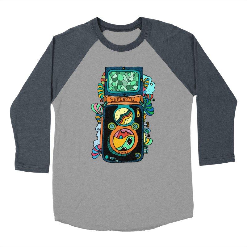 Kaleidoscope Camera Men's Baseball Triblend Longsleeve T-Shirt by Shelby Works