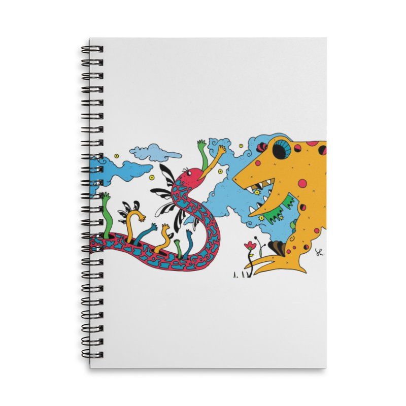 Lizardie Things Accessories Lined Spiral Notebook by Shelby Works