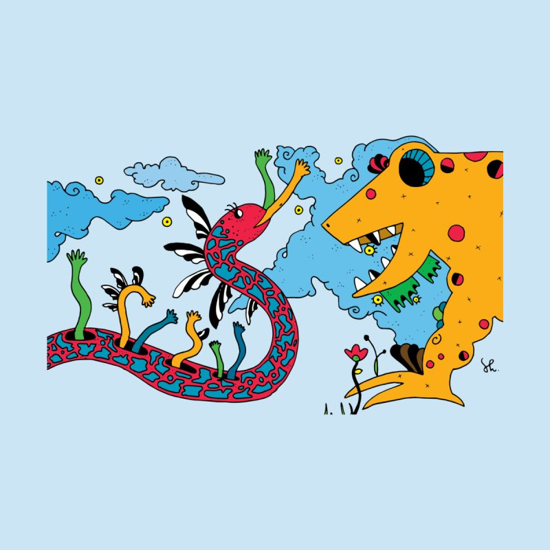 Lizardie Things Kids T-Shirt by Shelby Works