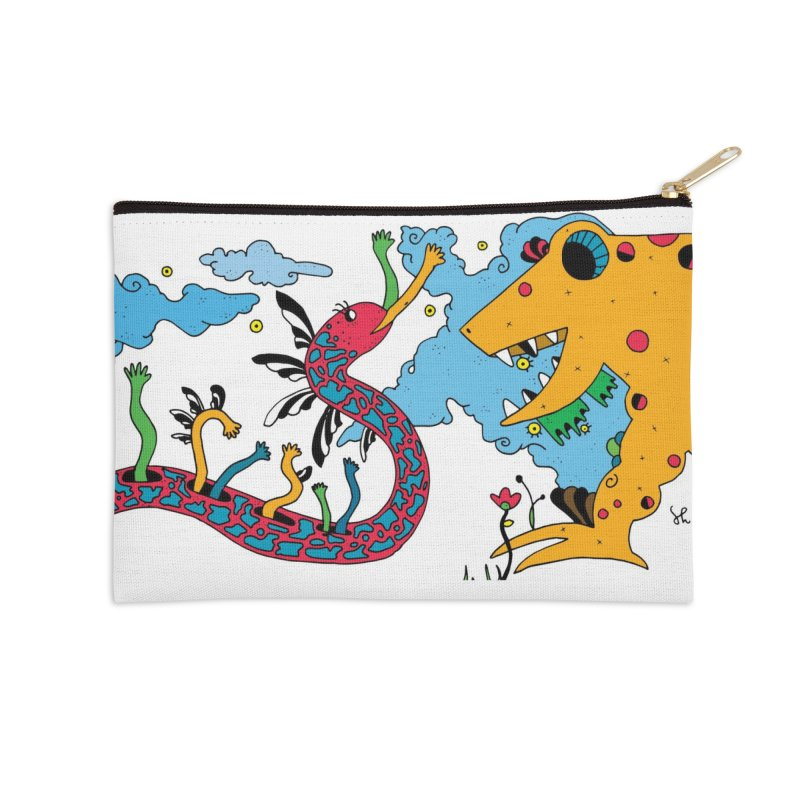 Lizardie Things Accessories Zip Pouch by Shelby Works