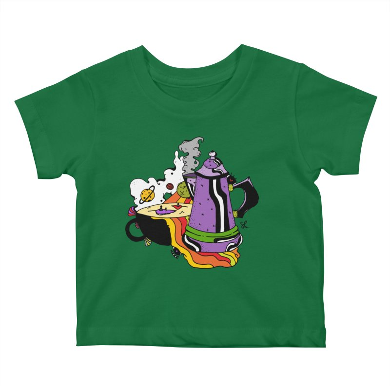 Coffee Dreams Kids Baby T-Shirt by Shelby Works