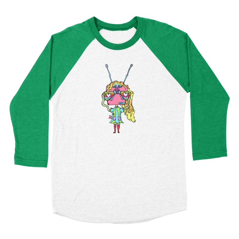 Polly Picture Men's Baseball Triblend Longsleeve T-Shirt by Shelby Works