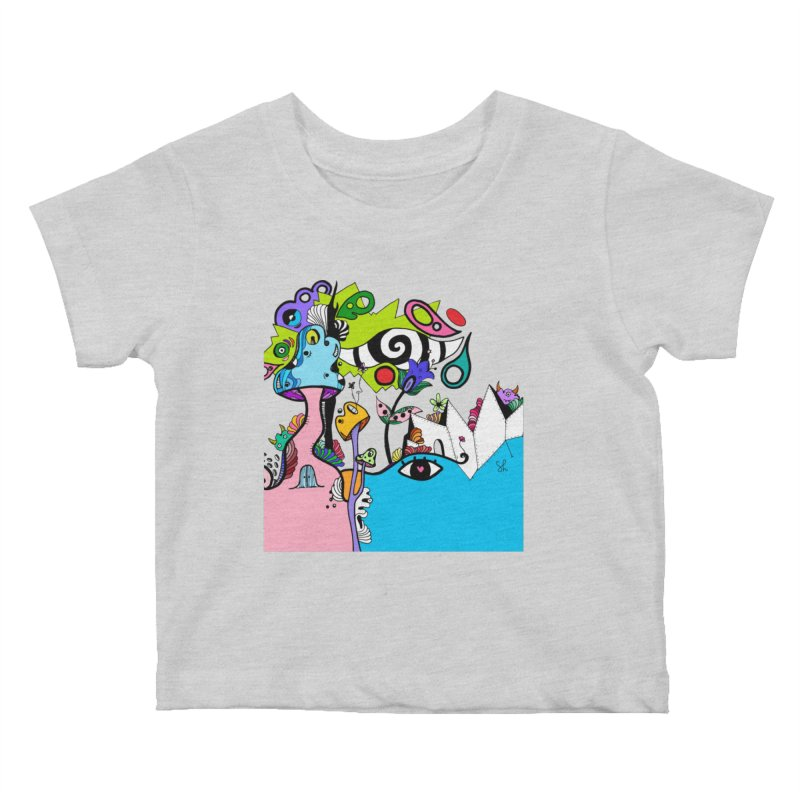 Alice Eyes Kids Baby T-Shirt by Shelby Works