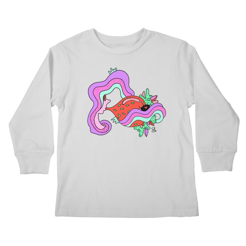 Strawberry Bubblegum Kids Longsleeve T-Shirt by Shelby Works