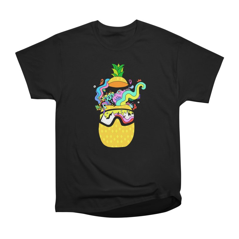 Pineapple Brain Women's Heavyweight Unisex T-Shirt by Shelby Works