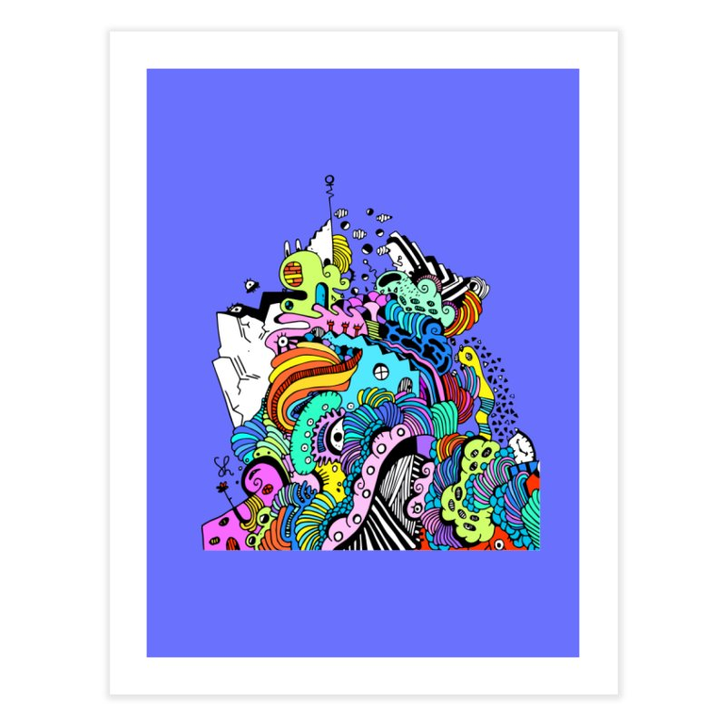 Candy Glacier Home Fine Art Print by Shelby Works