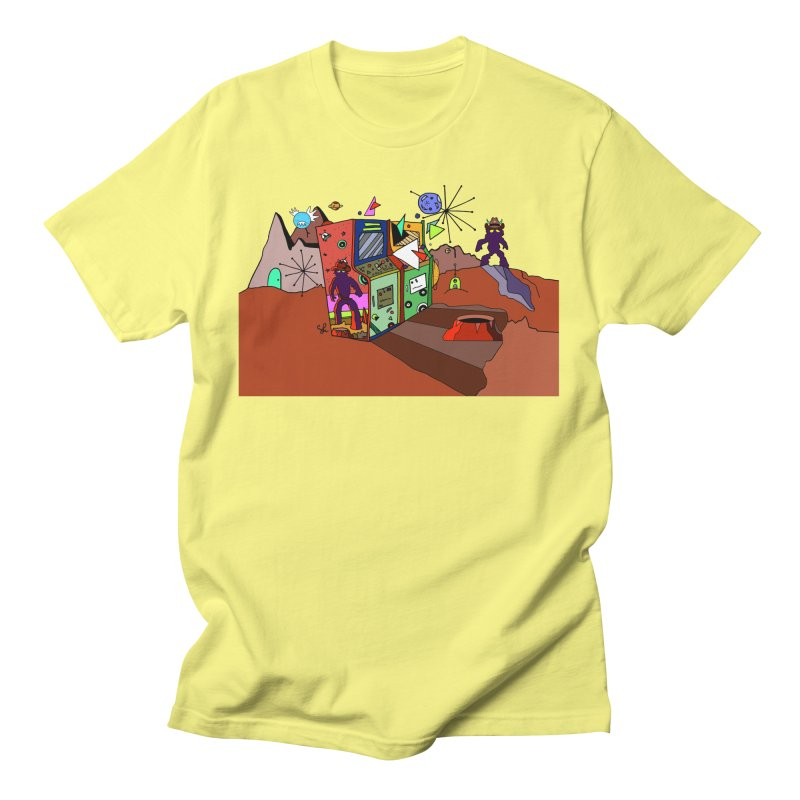 Yeti in Space Men's T-Shirt by Shelby Works