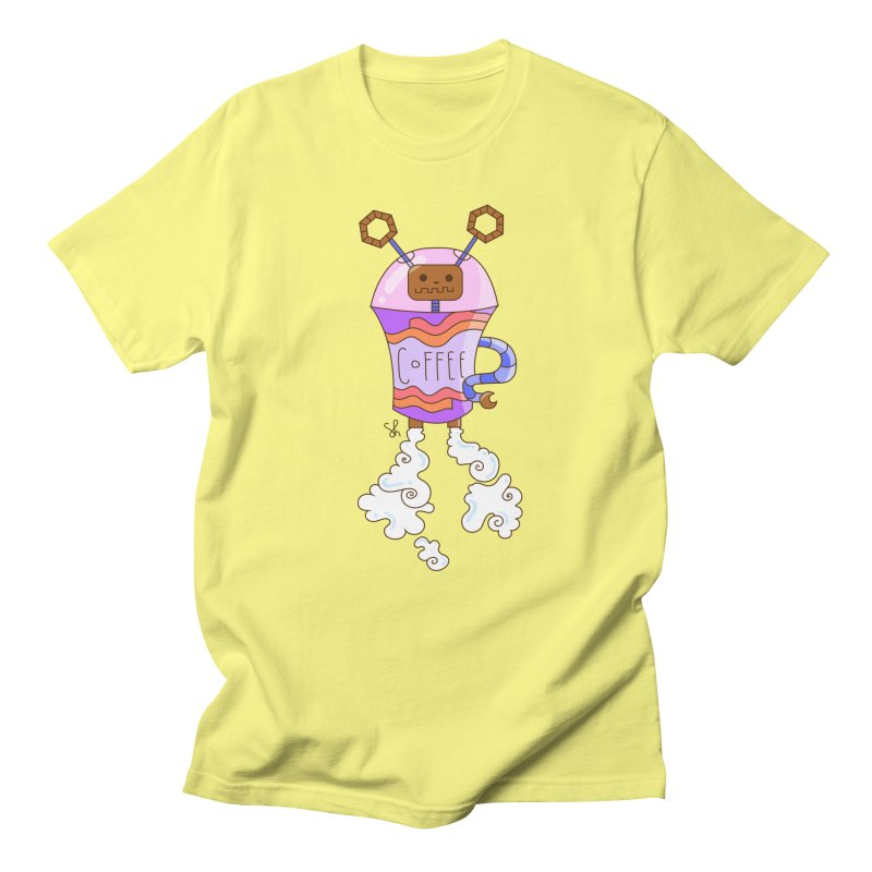 Coffee Bot Men's T-Shirt by Shelby Works