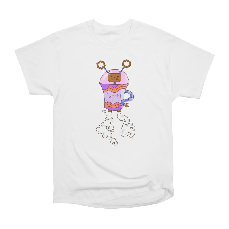 Coffee Bot Women's Heavyweight Unisex T-Shirt by Shelby Works