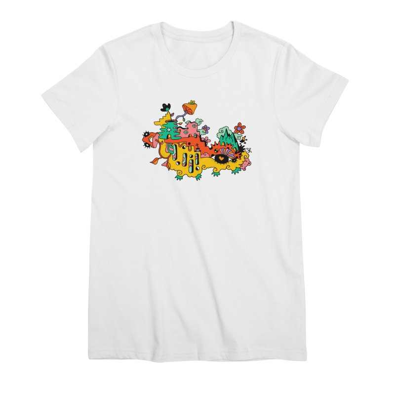 Happy Hotel Women's Premium T-Shirt by Shelby Works