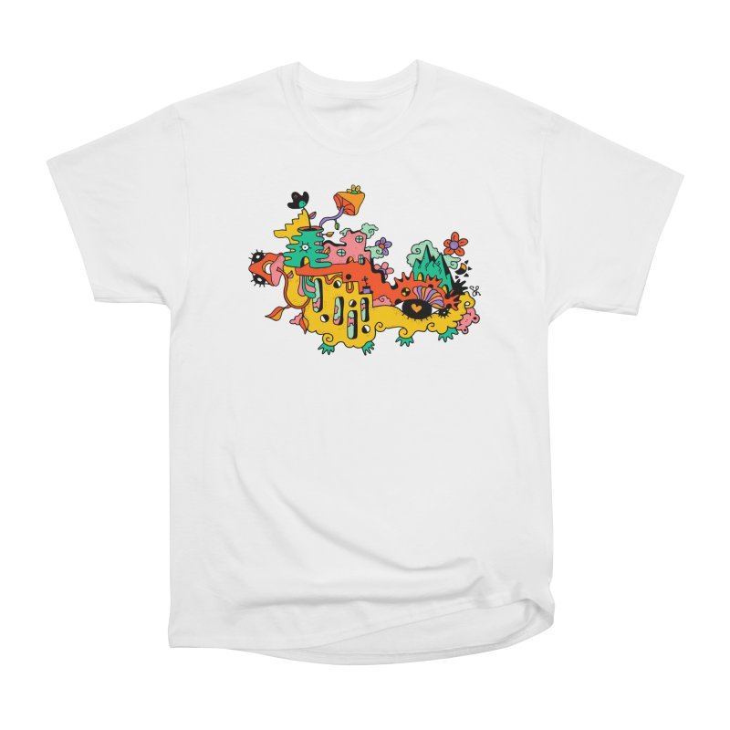 Happy Hotel Men's Heavyweight T-Shirt by Shelby Works