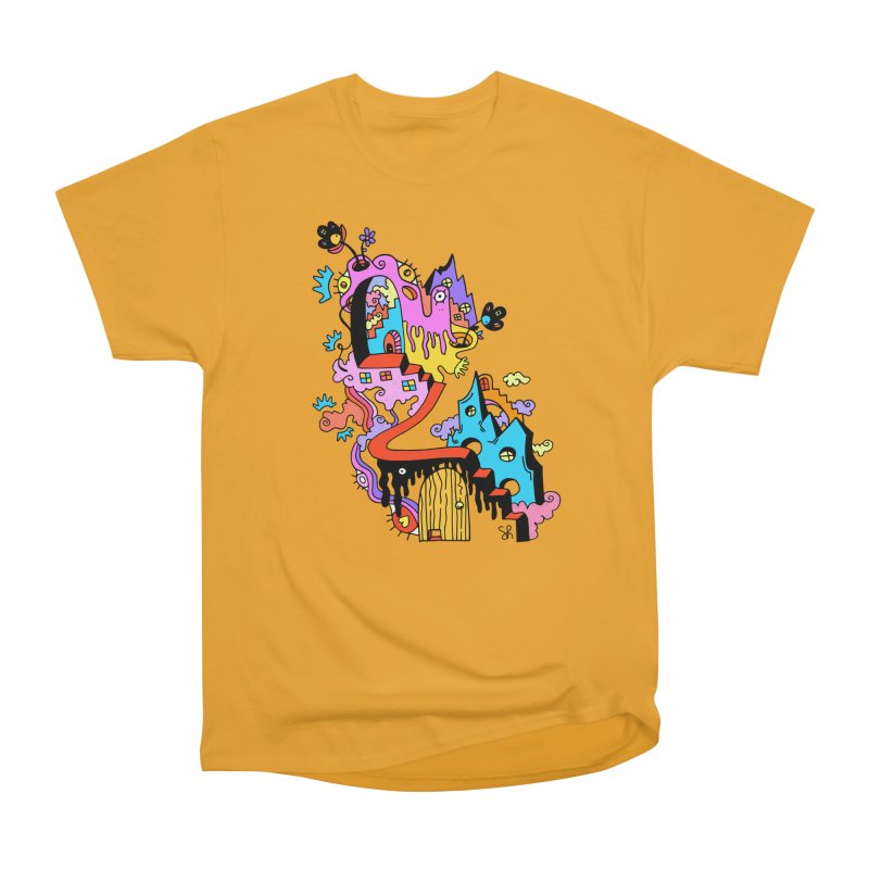 Ooblek Village Men's Heavyweight T-Shirt by Shelby Works