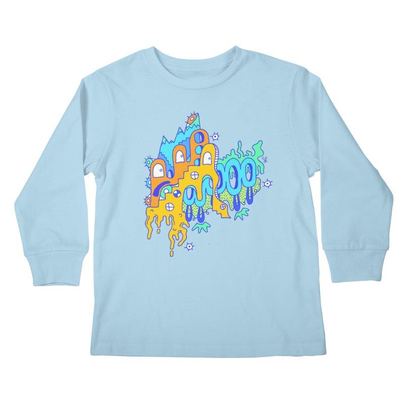 Blue Mountain Kids Longsleeve T-Shirt by Shelby Works