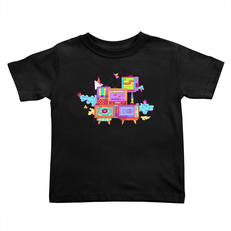 Toonie Television Kids Toddler T-Shirt by Shelby Works