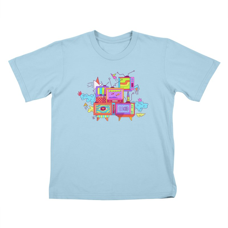 Toonie Television Kids T-Shirt by Shelby Works