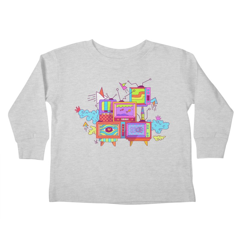 Toonie Television Kids Toddler Longsleeve T-Shirt by Shelby Works