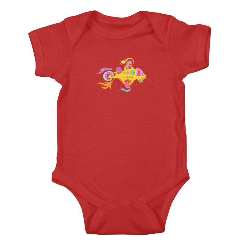 Little Submarine Kids Baby Bodysuit by Shelby Works