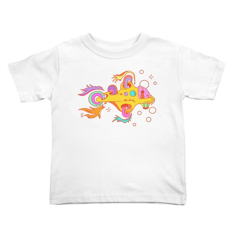Little Submarine Kids Toddler T-Shirt by Shelby Works