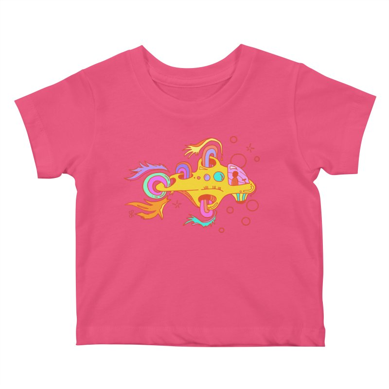 Little Submarine Kids Baby T-Shirt by Shelby Works