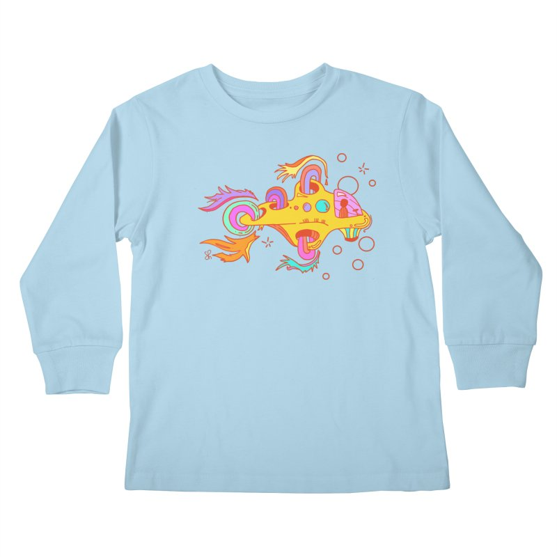 Little Submarine Kids Longsleeve T-Shirt by Shelby Works