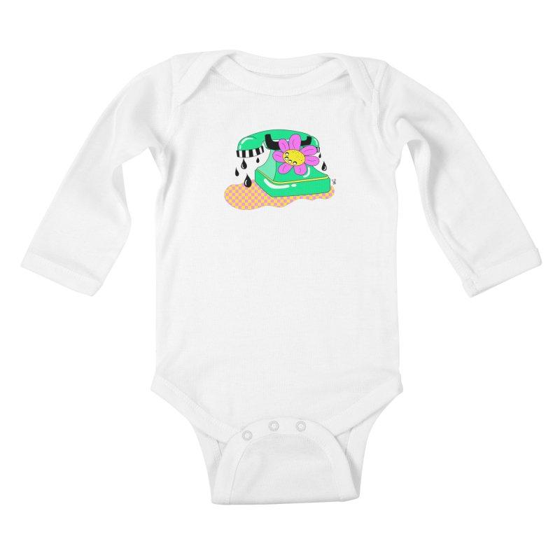 Flora Fone Kids Baby Longsleeve Bodysuit by Shelby Works