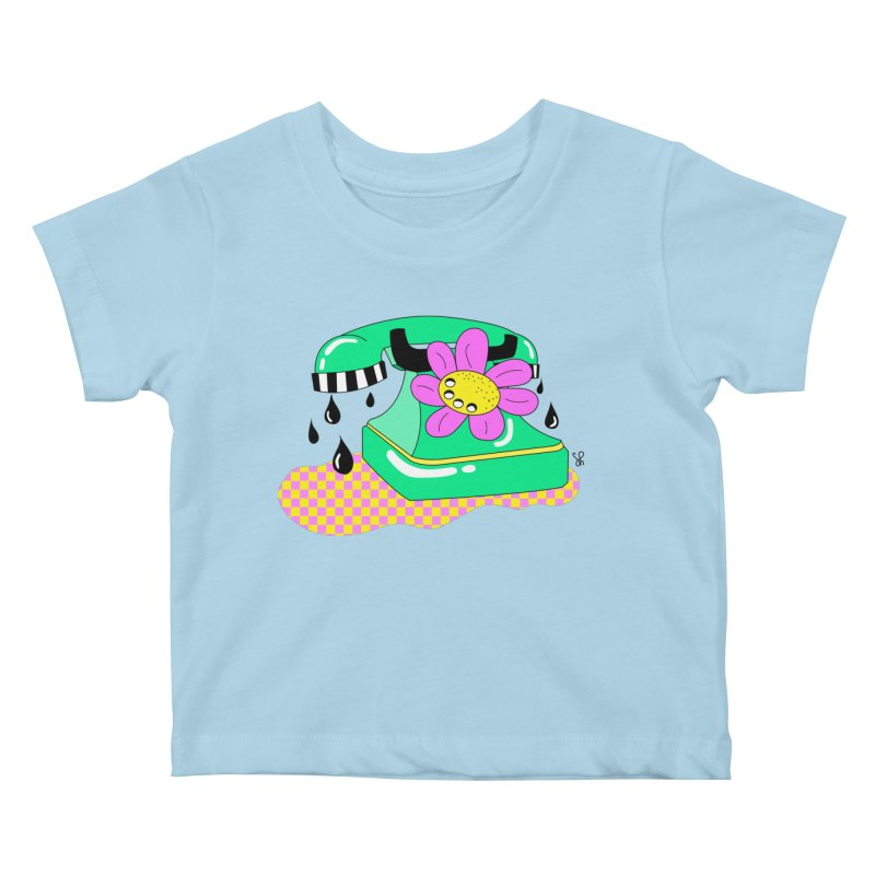 Flora Fone Kids Baby T-Shirt by Shelby Works