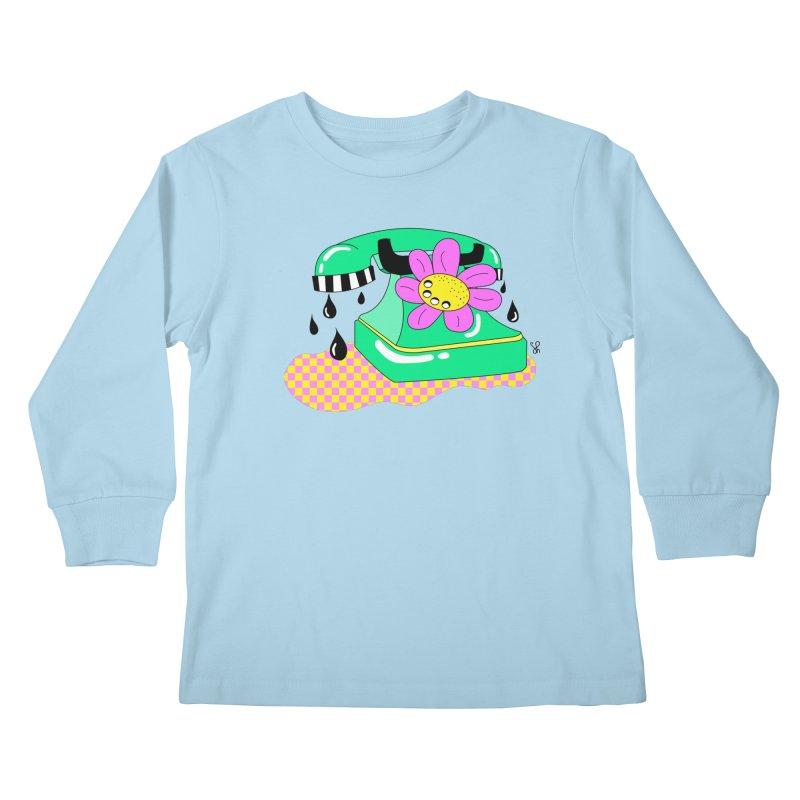 Flora Fone Kids Longsleeve T-Shirt by Shelby Works