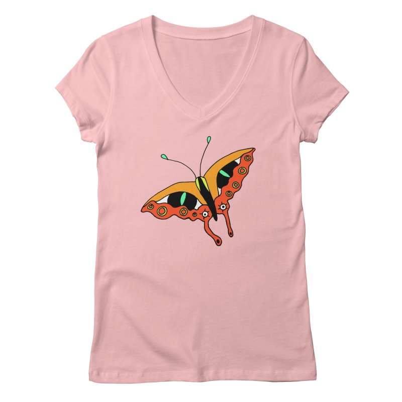 Butterfleye Women's Regular V-Neck by Shelby Works
