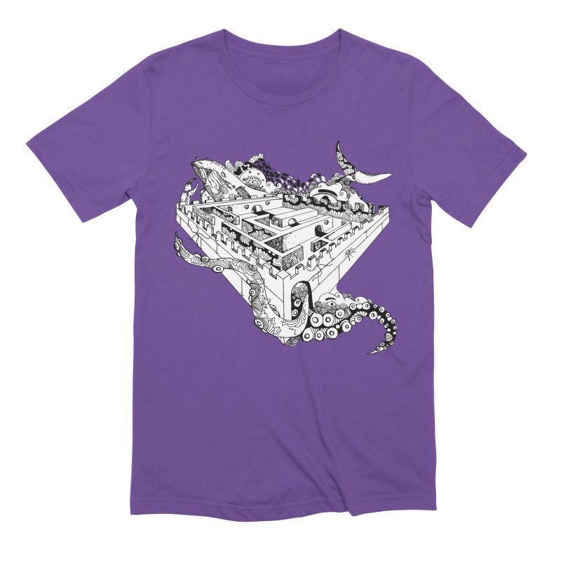Whale maze Men's Extra Soft T-Shirt by Shelby Works