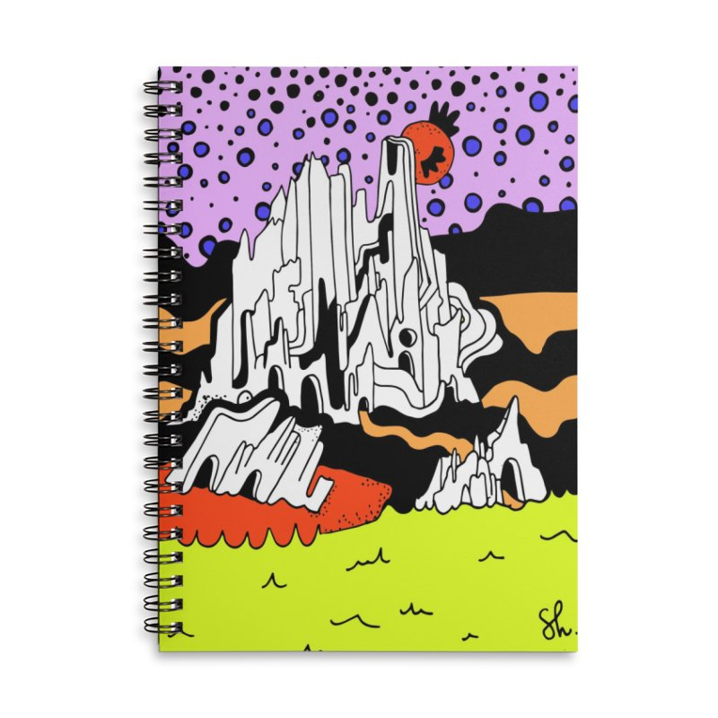 Utah at Night Accessories Lined Spiral Notebook by Shelby Works