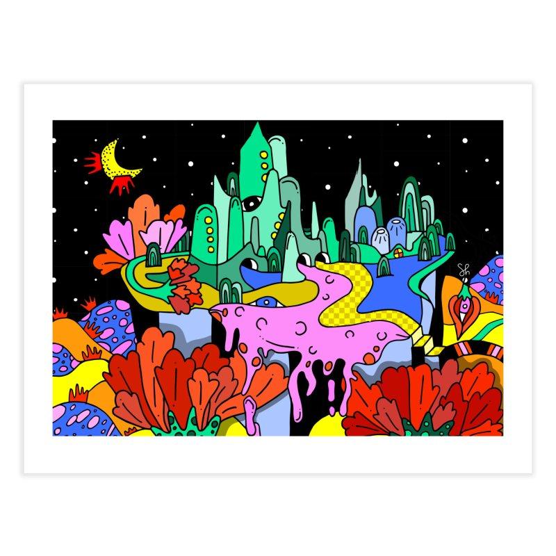 Poppy Trip Home Fine Art Print by Shelby Works