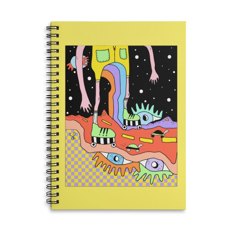 Skater Road Accessories Lined Spiral Notebook by Shelby Works