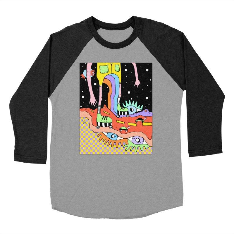 Skater Road Men's Baseball Triblend Longsleeve T-Shirt by Shelby Works