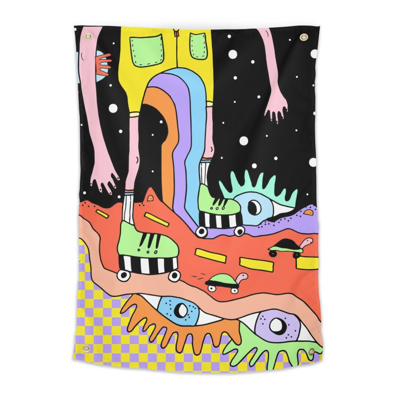 Skater Road Home Tapestry by Shelby Works