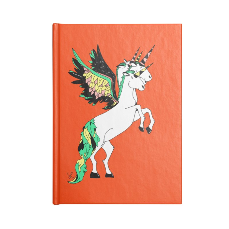 The Four Headed Unicorn Accessories Blank Journal Notebook by Shelby Works